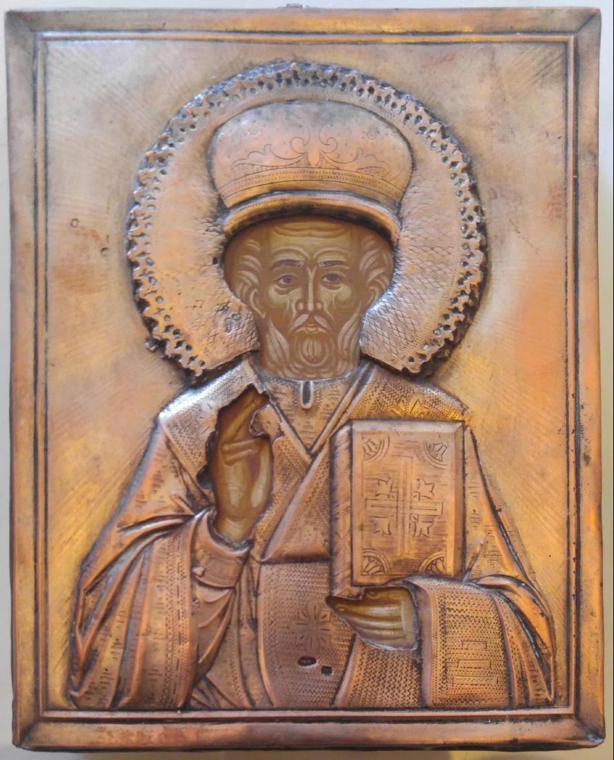 Antique St Nicholas Russian Icon