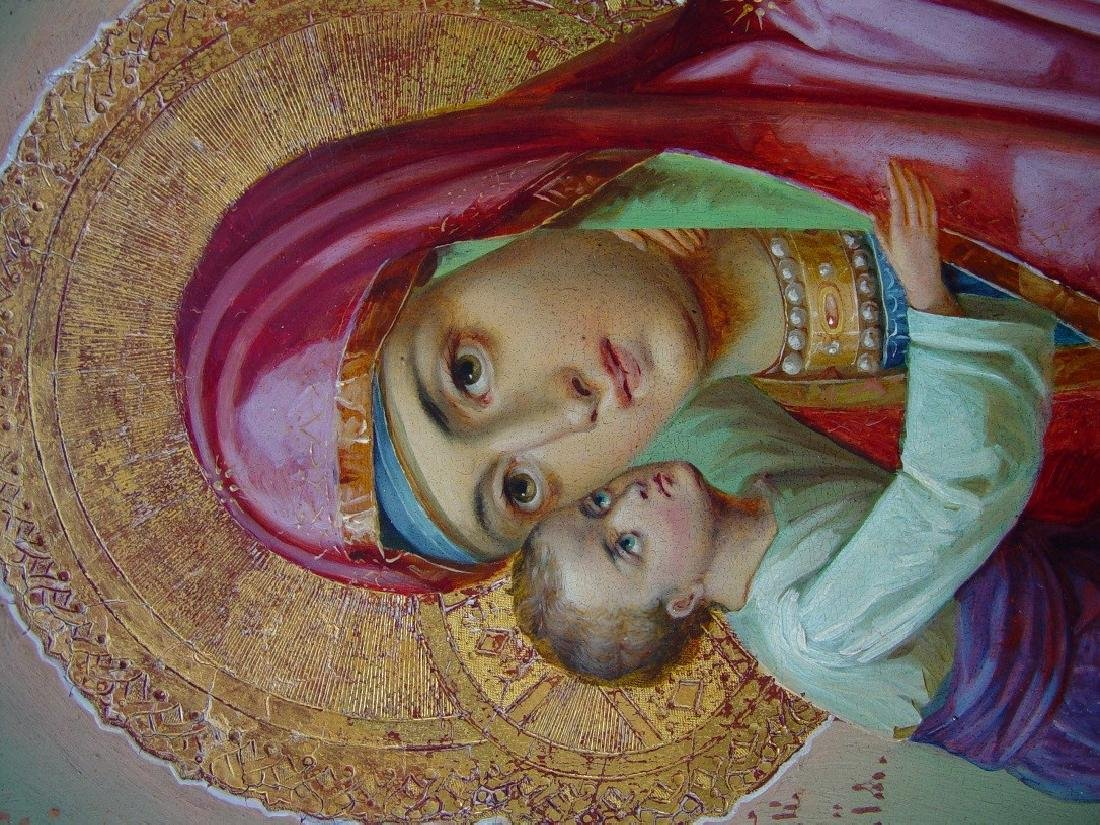 Virgin of Vladimir Russian Icon, 19th C - 3
