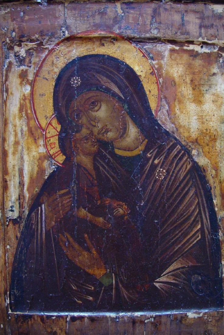 Mother of God Donskaya Russian Icon, 1600 - 2
