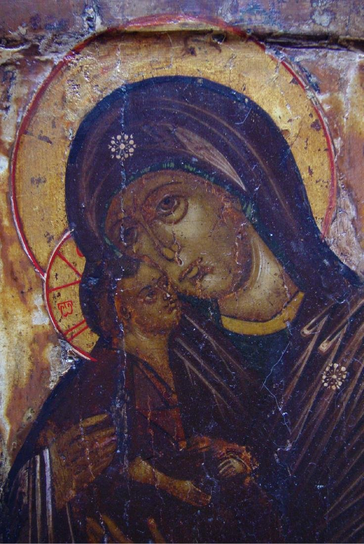 Mother of God Donskaya Russian Icon, 1600 - 3