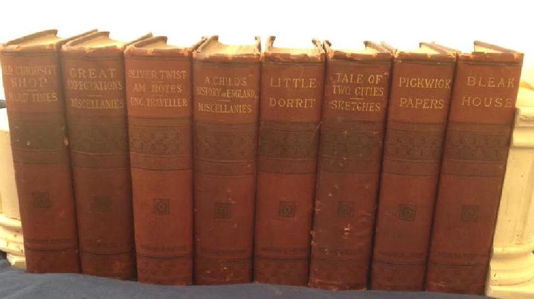 Antique Charles Dickens Book Set 1886