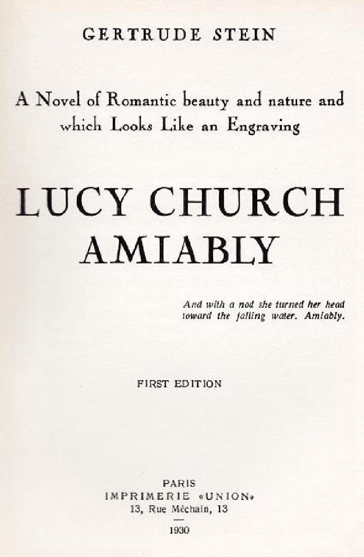 Lucy Church Amiably by Gertrude Stein - 2