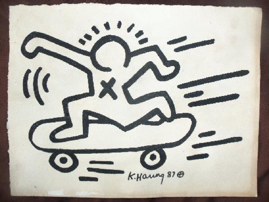 Keith Haring: Man On Skateboard - Signed - 3