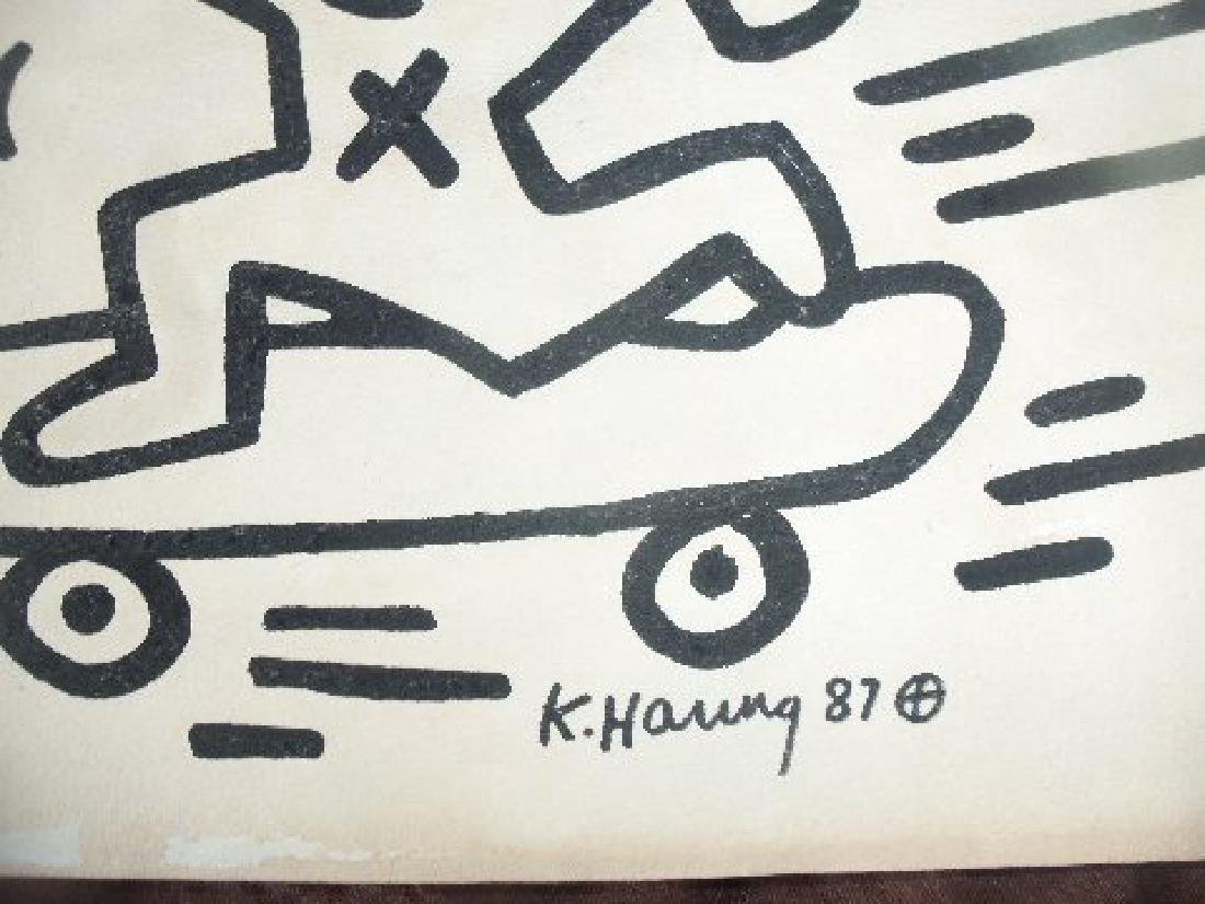 Keith Haring: Man On Skateboard - Signed - 4