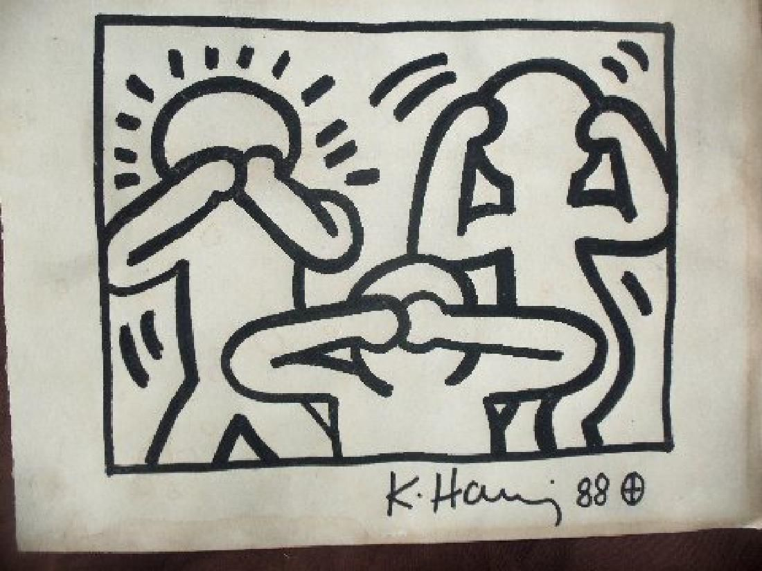 Keith Haring: See, Hear, Speak, No Evil - Signed
