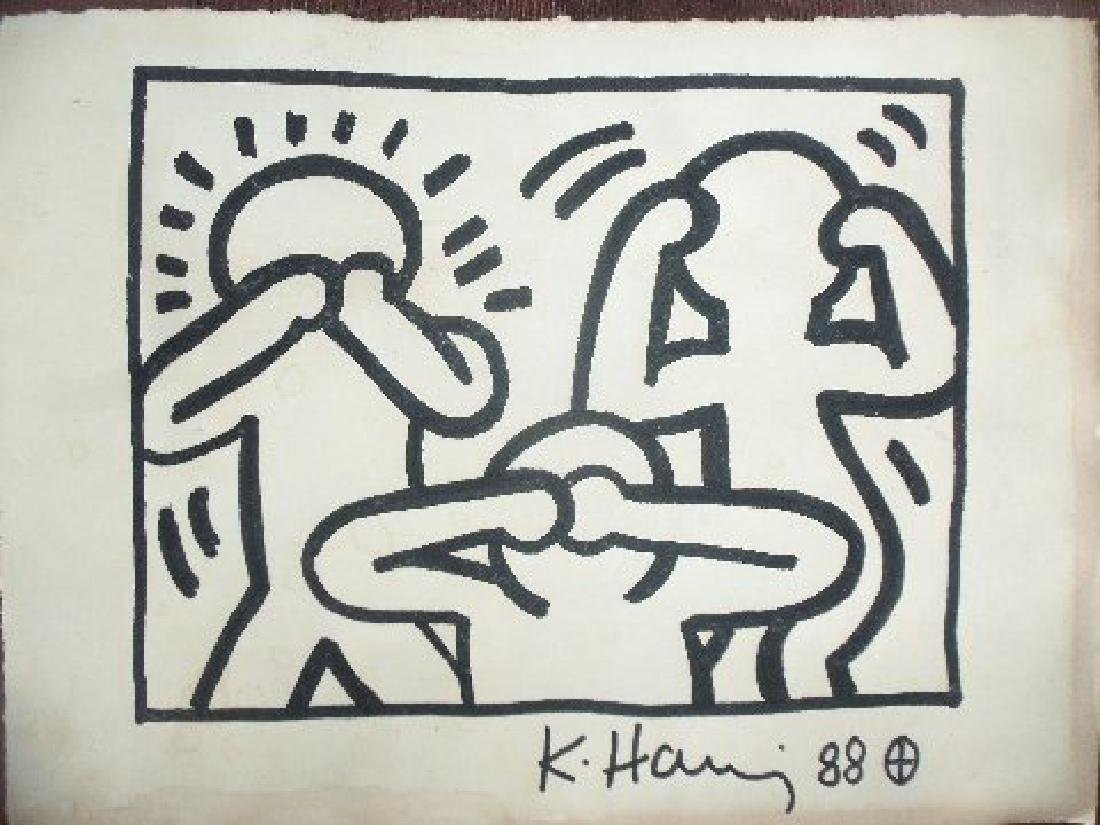 Keith Haring: See, Hear, Speak, No Evil - Signed - 2