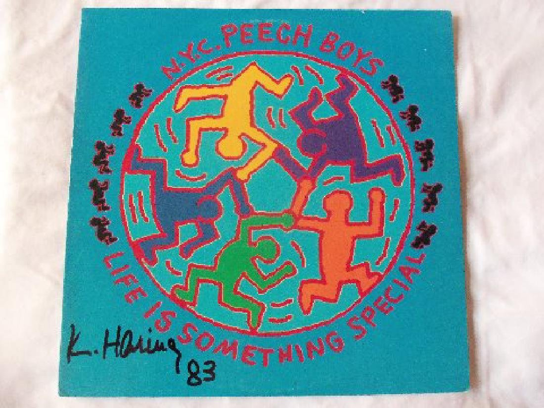 Keith Haring Signed NYC Peech Boys LP