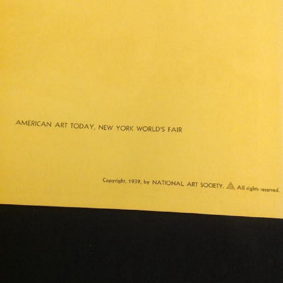 "Vintage Lithograph Karl Mattern""All Steamed Up"" 1939 - 5"