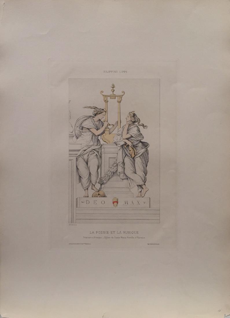 La Poesie Et La Musique Lithograph, 1860