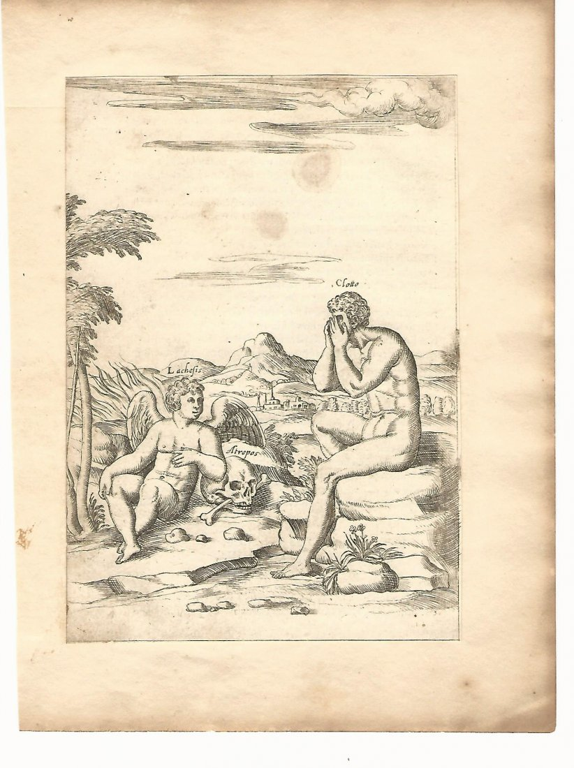 1587 Cartari Mythology Engraving
