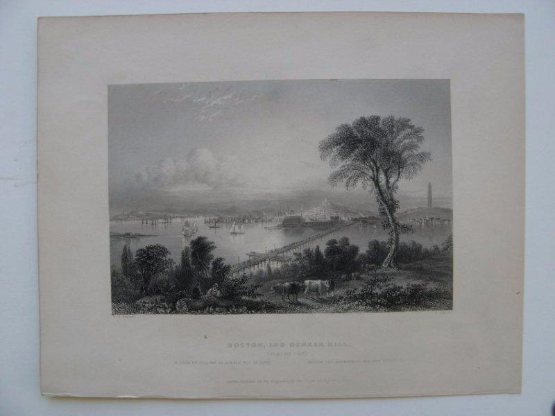 William H Bartlett: Boston from Bunker Hill