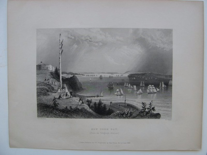William H Bartlett: New York Bay