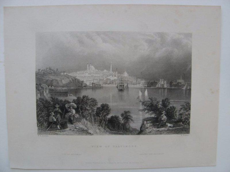 William H Bartlett: View of Baltimore