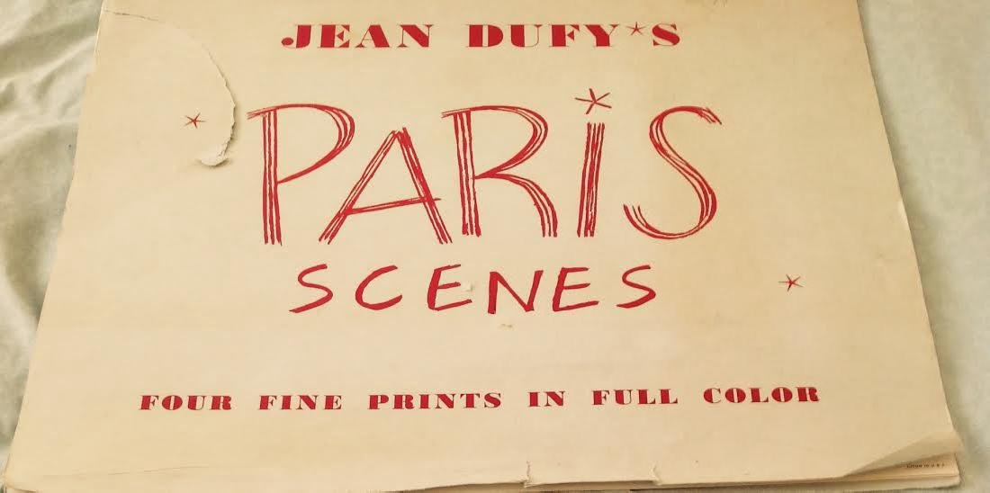 Jean Dufy's 4 Prints Portfolio Paris Scenes
