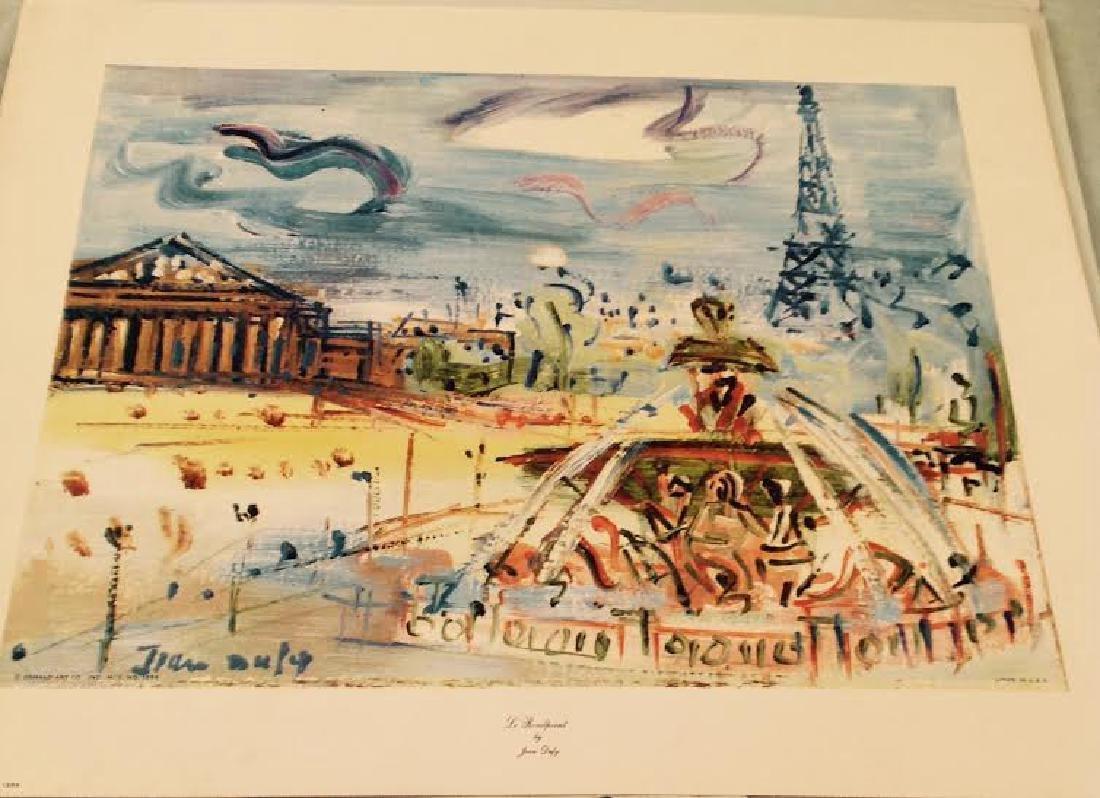 Jean Dufy's 4 Prints Portfolio Paris Scenes - 7