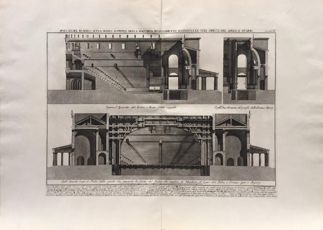 Architectural Prints by Piranesi, 1785