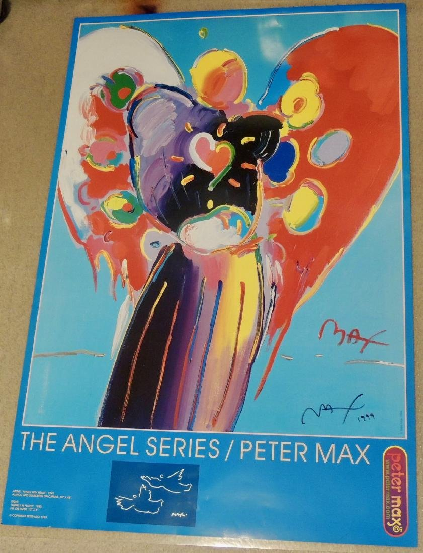 Peter Max Signed The Angel Series