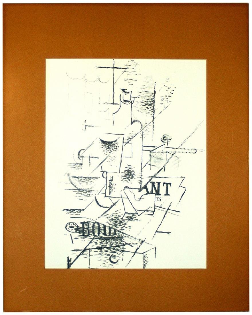 Georges Braque Lithograph: Papiers Collés III, 1963
