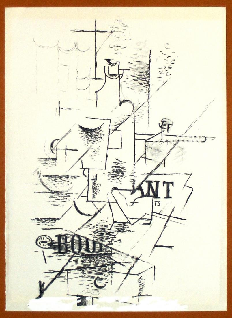 Georges Braque Lithograph: Papiers Collés III, 1963 - 2