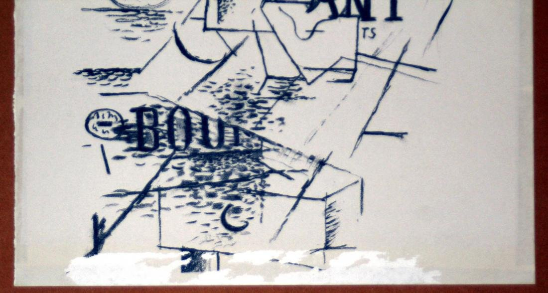 Georges Braque Lithograph: Papiers Collés III, 1963 - 3