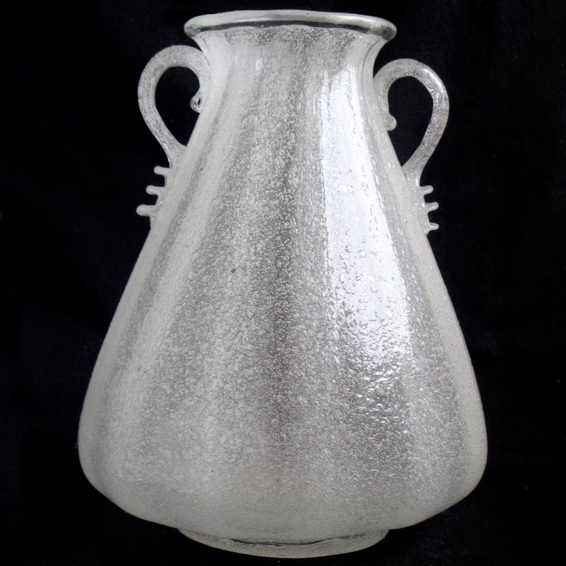 Seguso Vetri D'Arte Murano Early Pulegoso Glass Vase