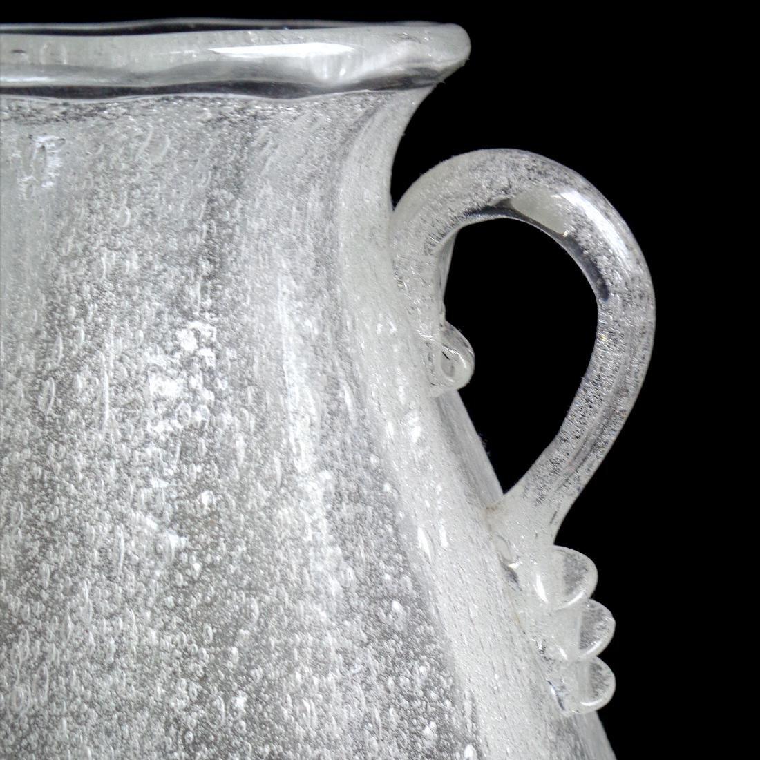 Seguso Vetri D'Arte Murano Early Pulegoso Glass Vase - 2
