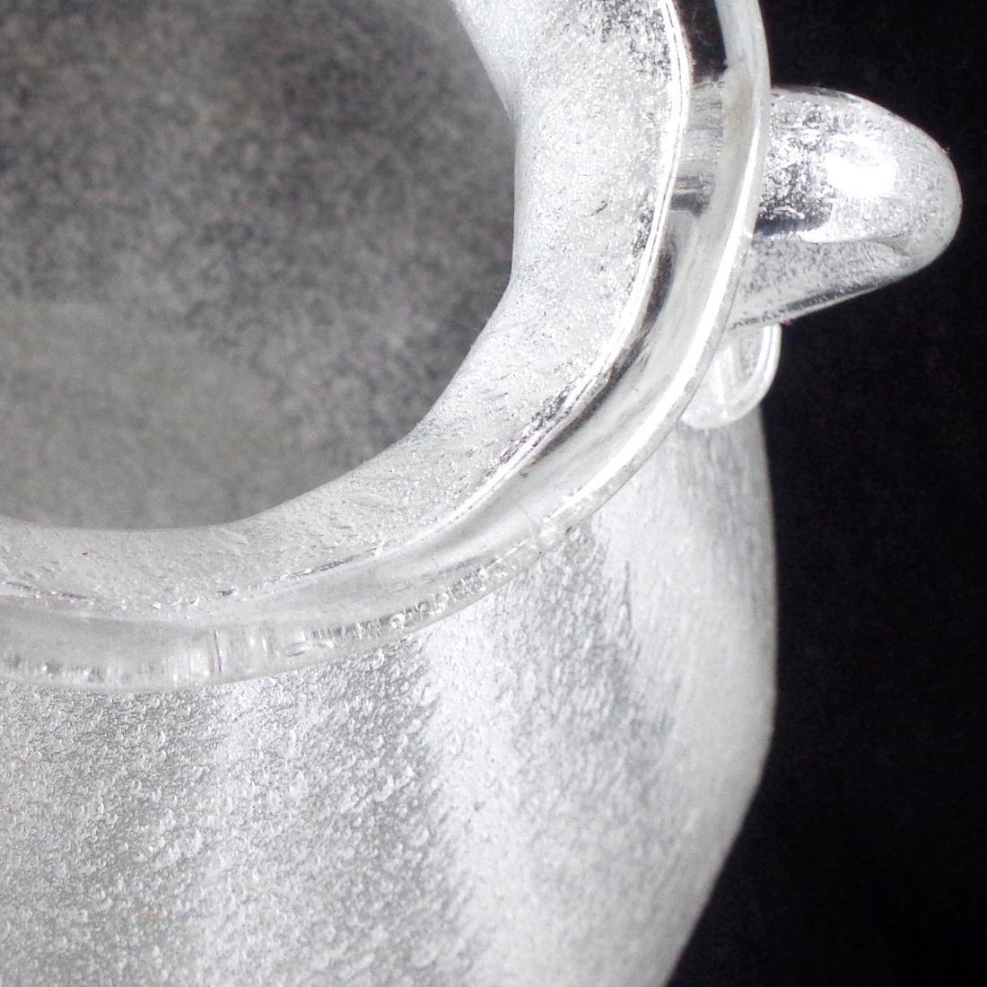 Seguso Vetri D'Arte Murano Early Pulegoso Glass Vase - 3