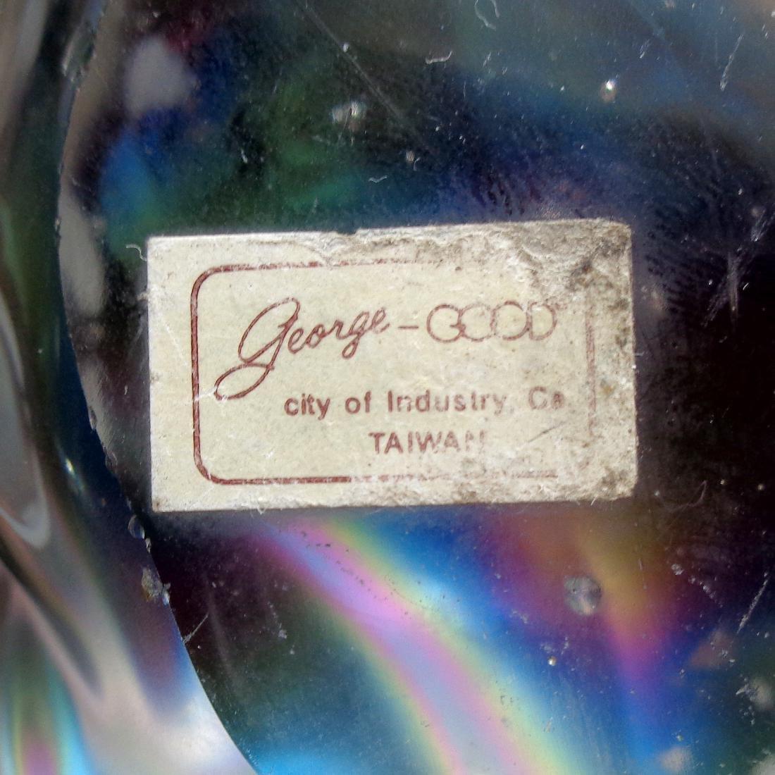 Iridescent Art Glass Conch Shell Paperweight - 4