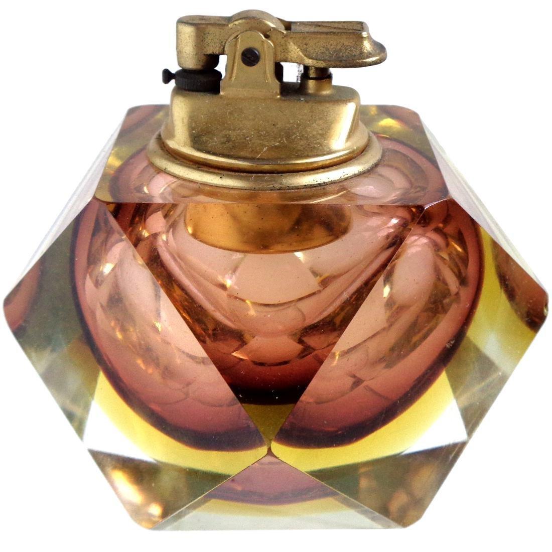 Madruzzato Murano Sommerso Diamond Shape Lighter