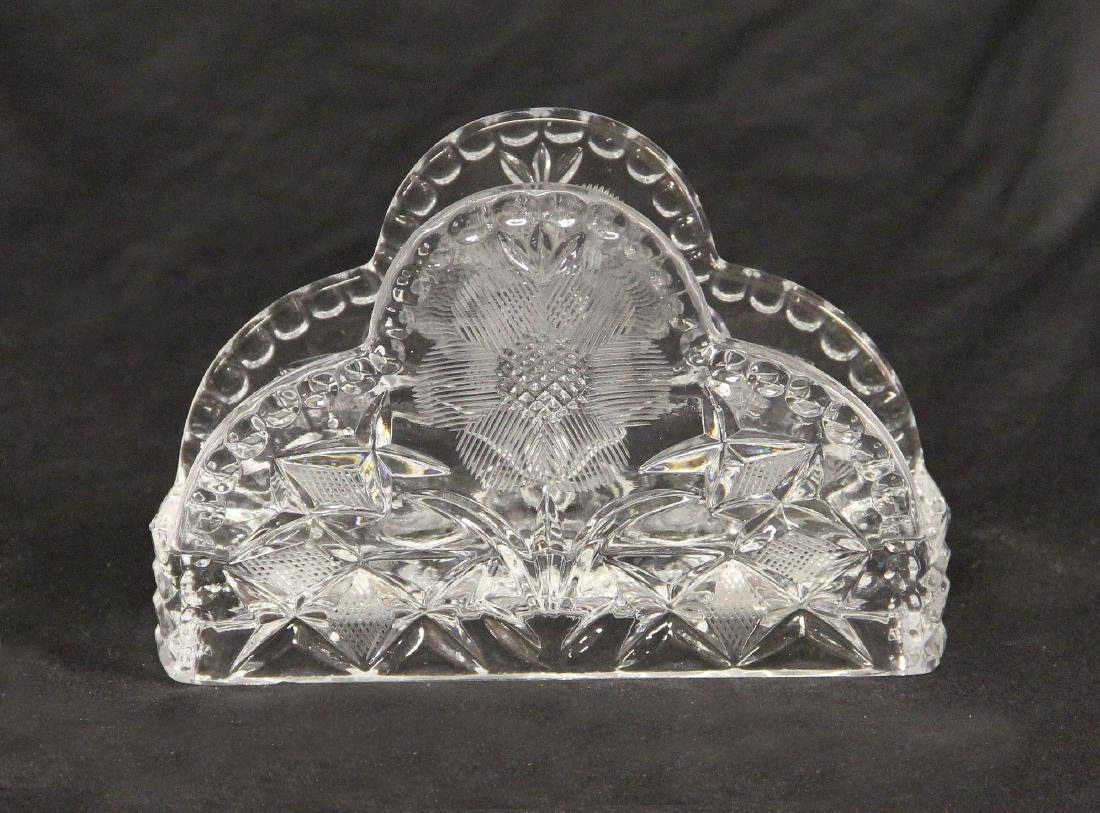 Early 20th Century Crystal Napkin Holder