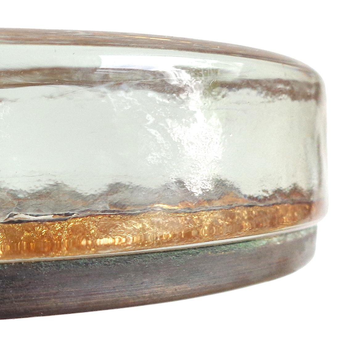 Venetian Gold Leaf Apollo 11 Glass Paperweight - 2