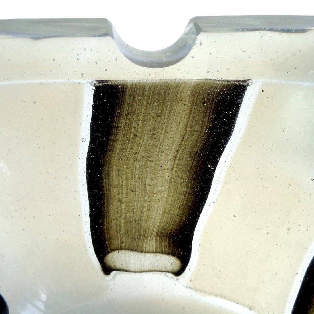 Barovier Toso Murano Opal Pezzato Art Glass Ashtray - 3