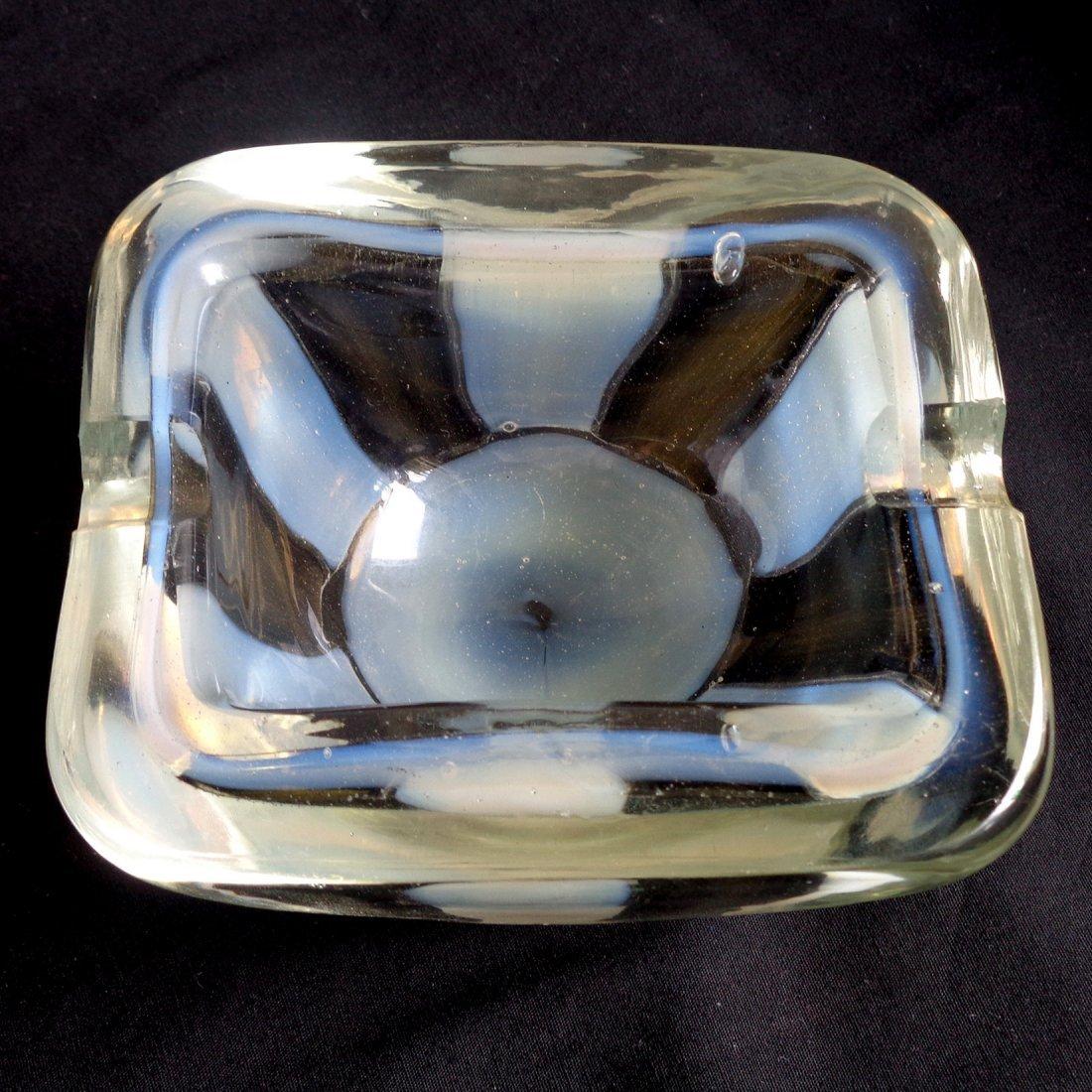 Barovier Toso Murano Opal Pezzato Art Glass Ashtray - 4