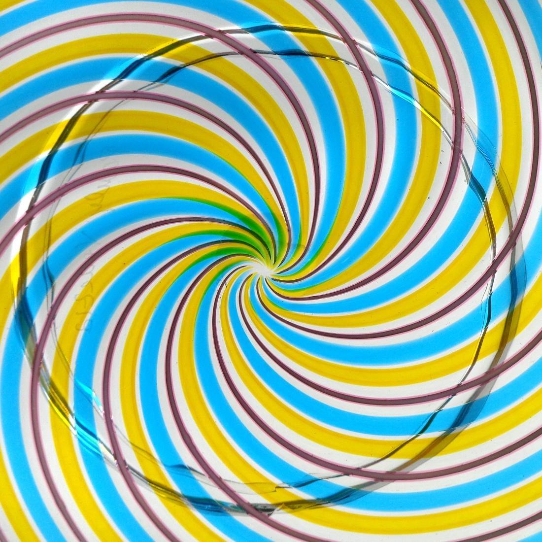Pauly Venezia Murano Swirl Ribbons Art Glass Bowl - 2