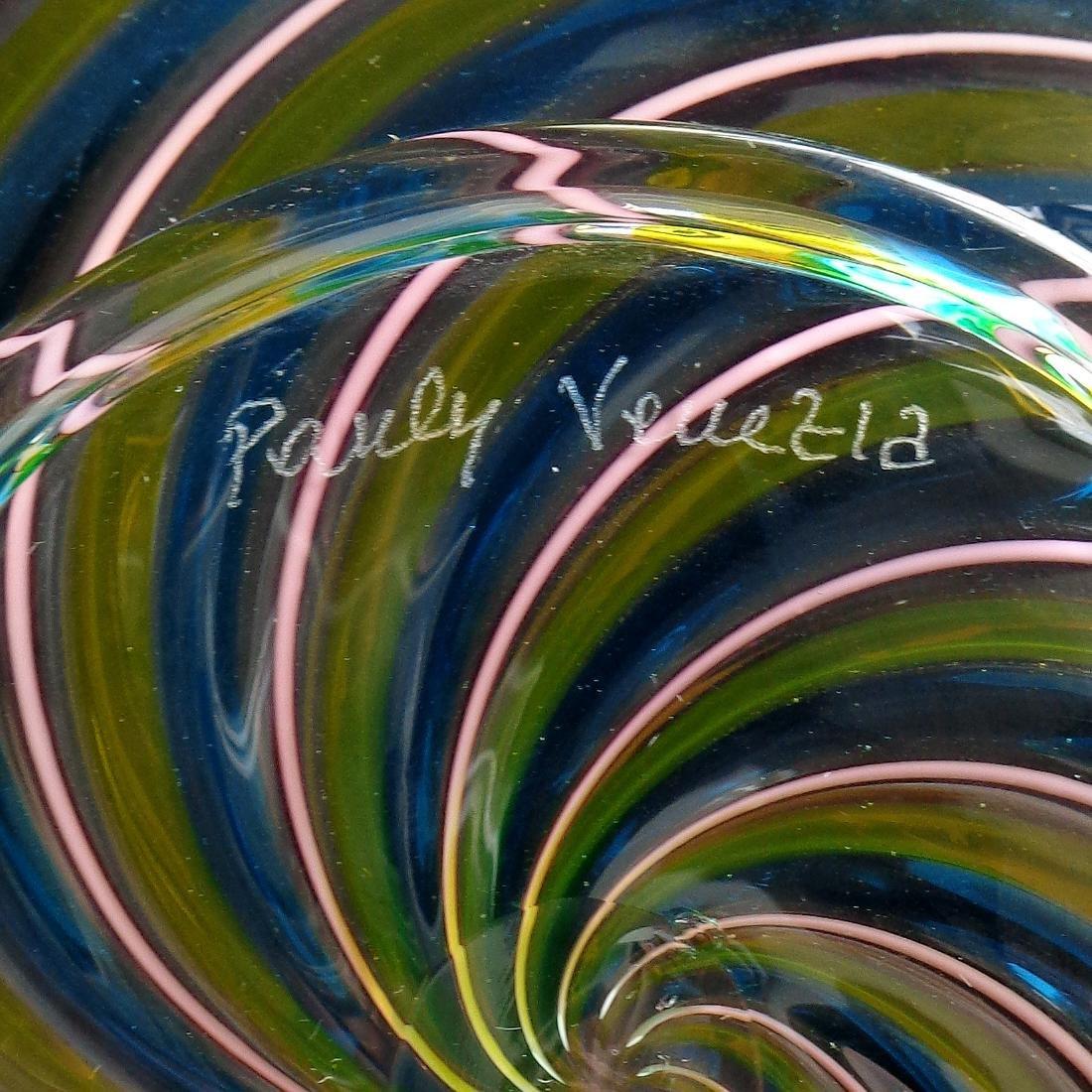 Pauly Venezia Murano Swirl Ribbons Art Glass Bowl - 3