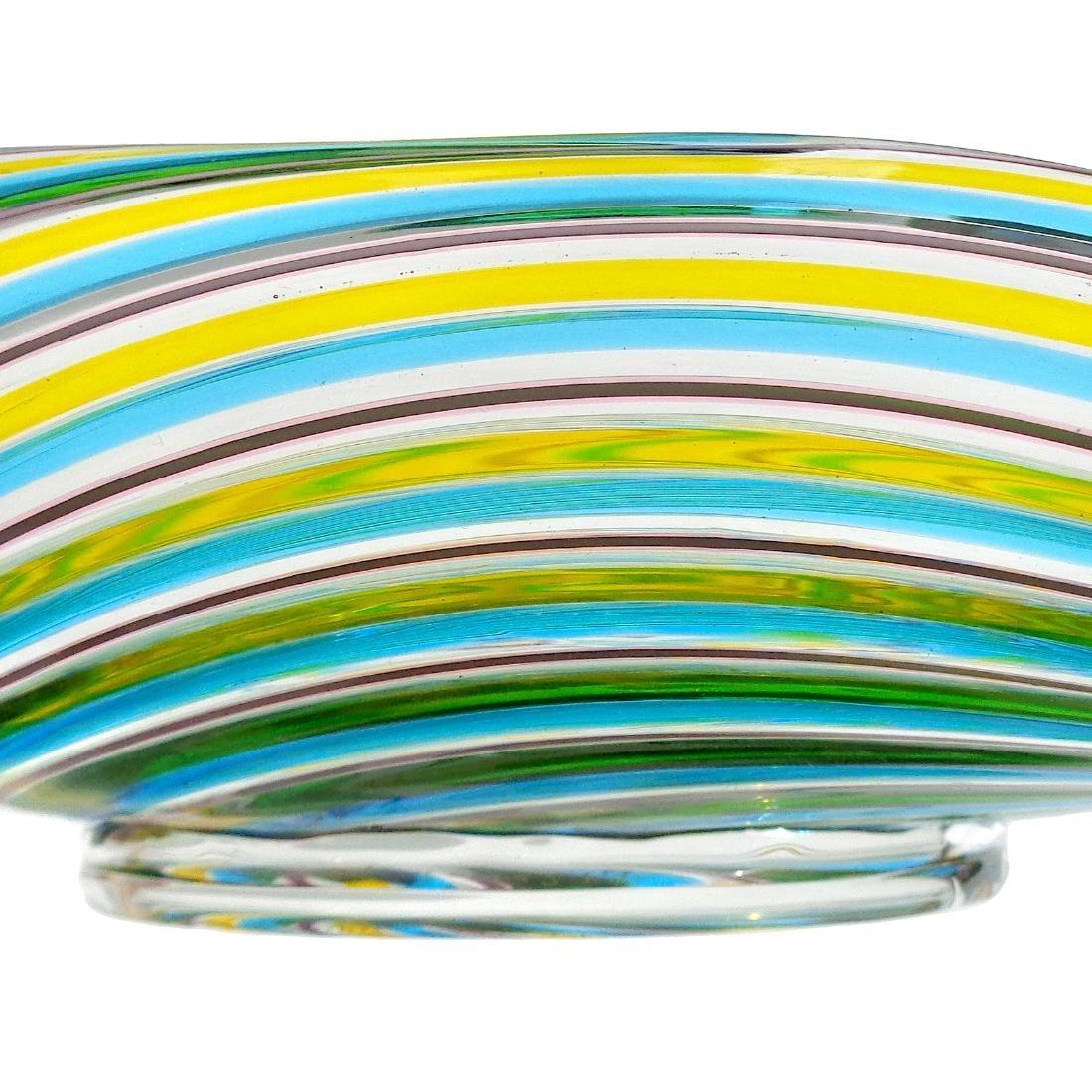 Pauly Venezia Murano Swirl Ribbons Art Glass Bowl - 4