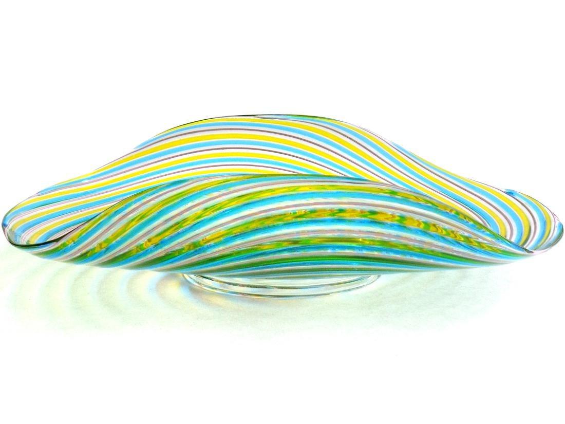 Pauly Venezia Murano Swirl Ribbons Art Glass Bowl - 5