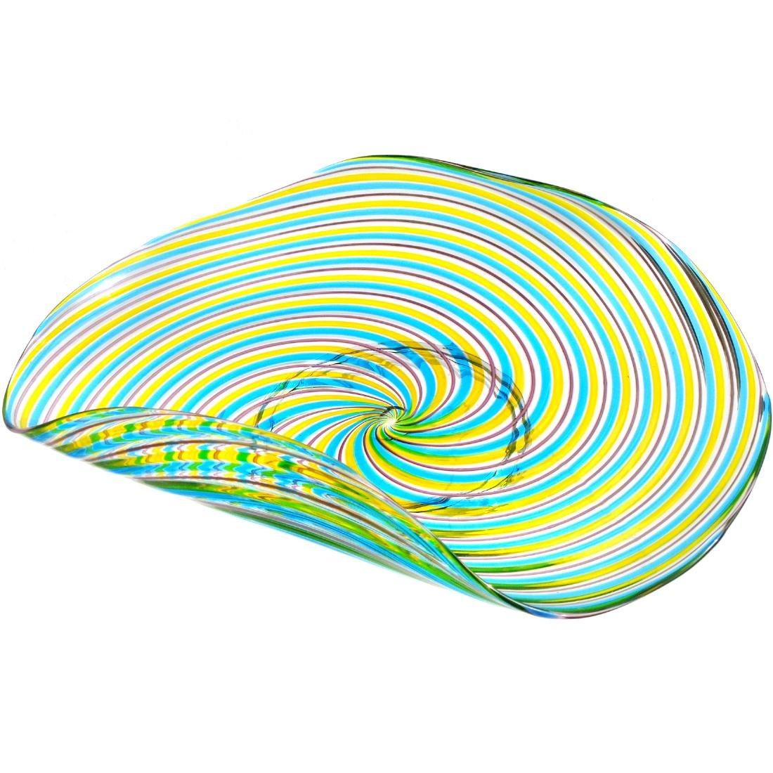 Pauly Venezia Murano Swirl Ribbons Art Glass Bowl - 6