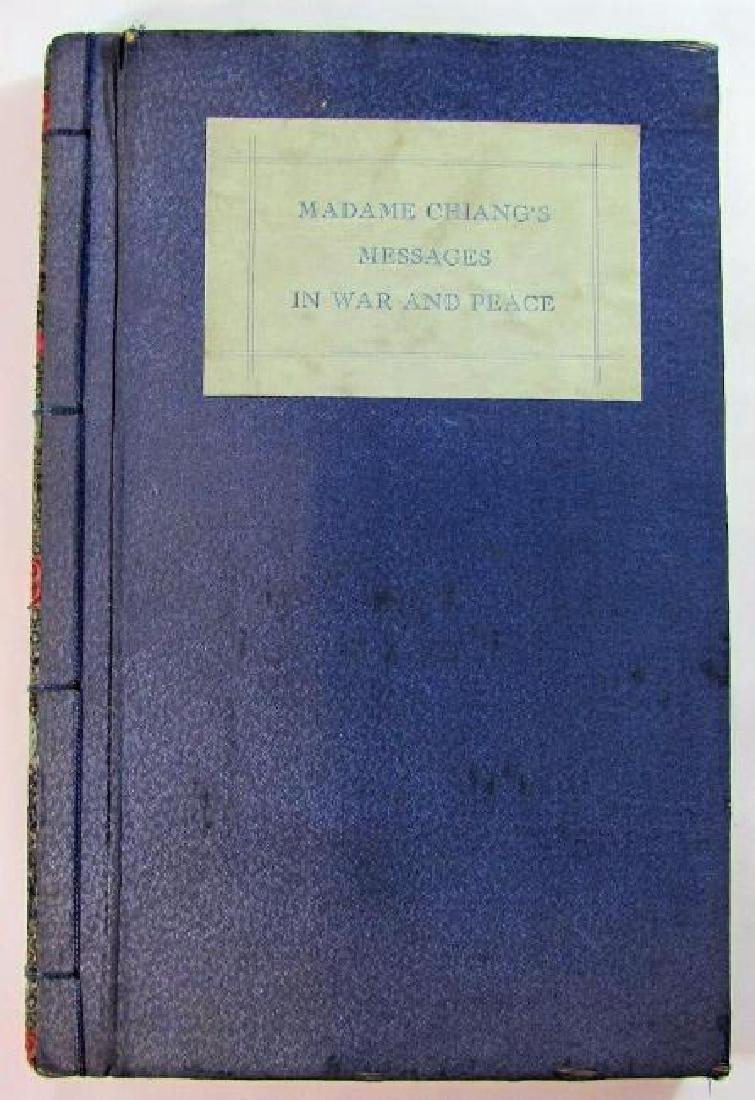 May-Ling Soong Chiang: 1938 War Messages