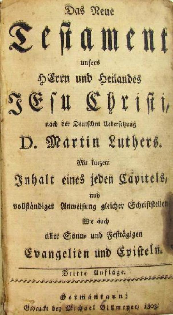 Das Neu Testimate, 1803 - 2