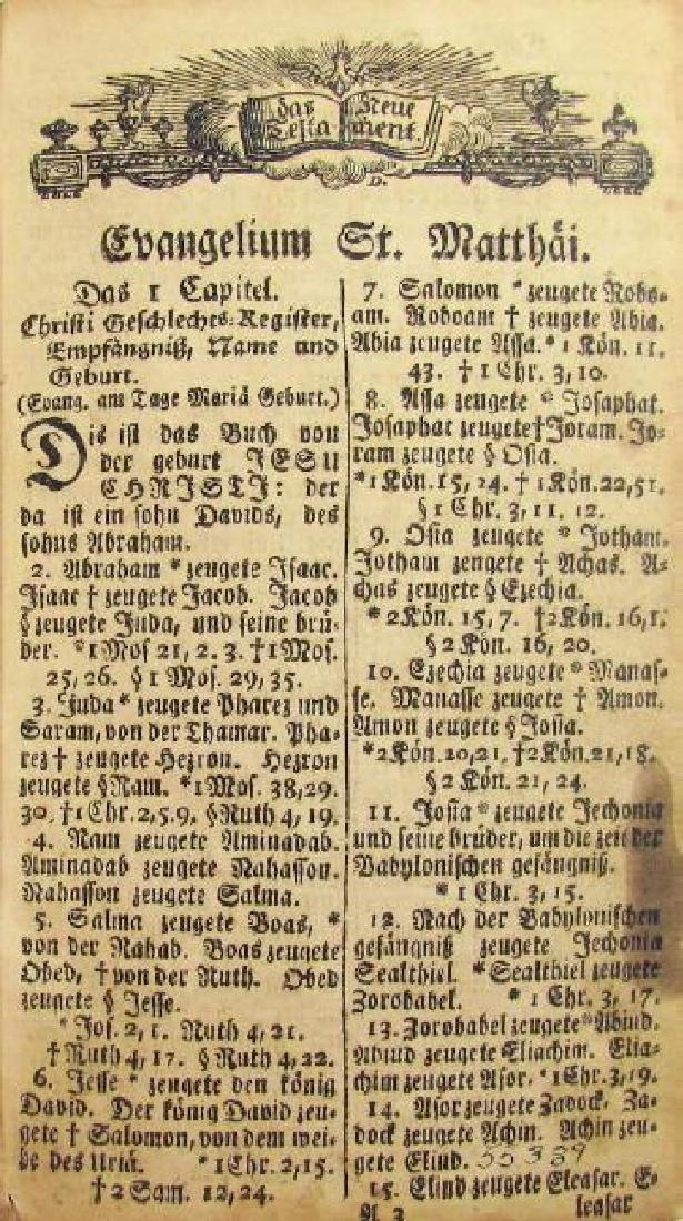 Das Neu Testimate, 1803 - 3
