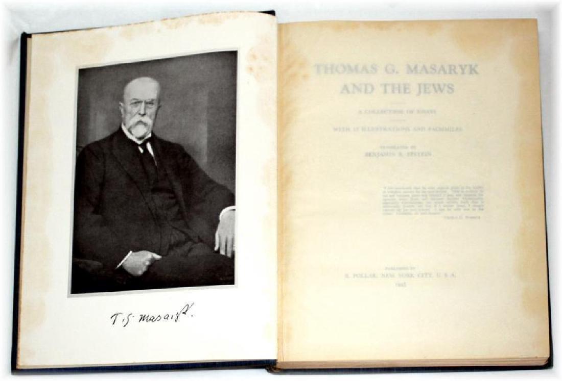 Thomas G. Masaryk and The Jews. Ltd Ed. 1945