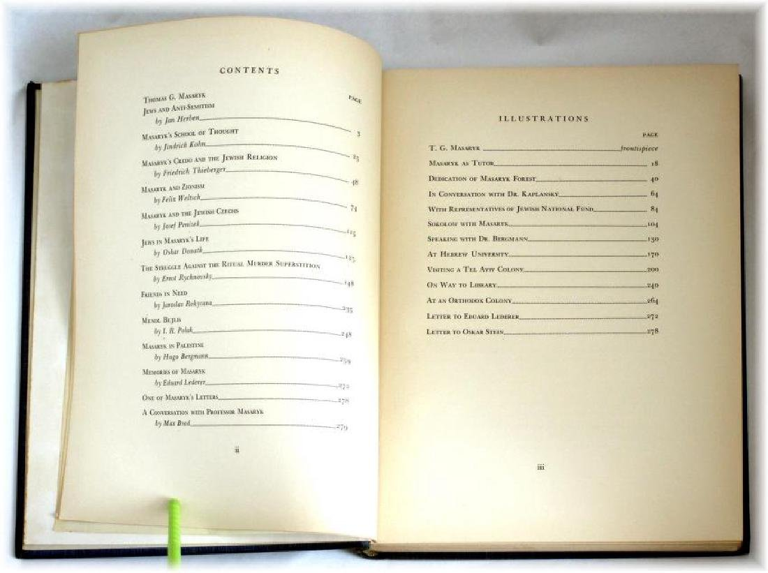 Thomas G. Masaryk and The Jews. Ltd Ed. 1945 - 4