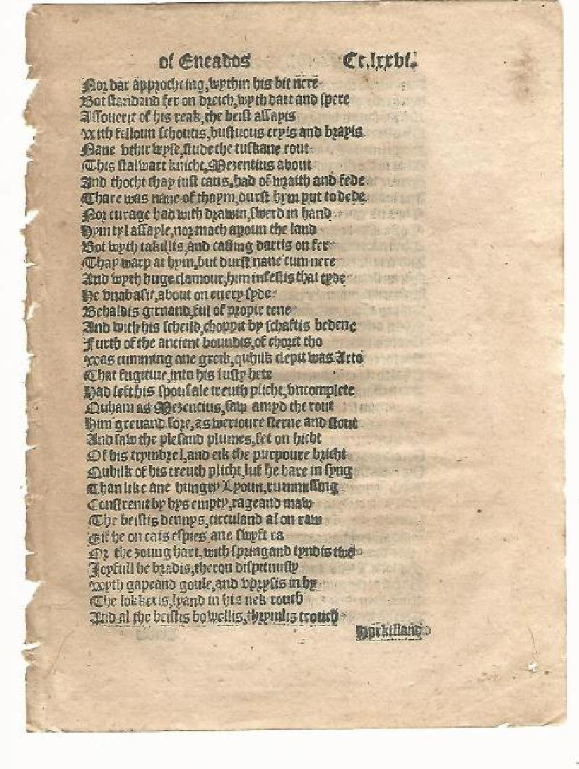 1553 English Leaf Aeneid By Virgil