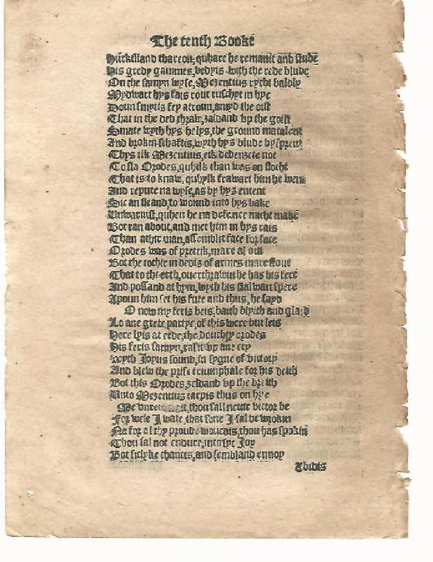 1553 English Leaf Aeneid By Virgil - 2