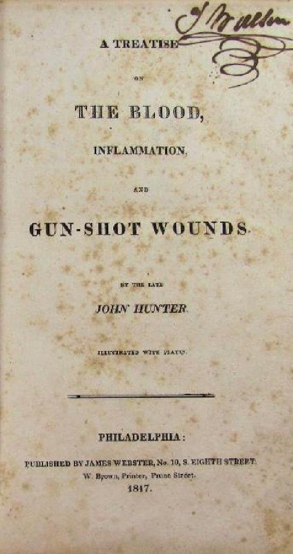 1817 Medical Treatise Gunshot Wounds