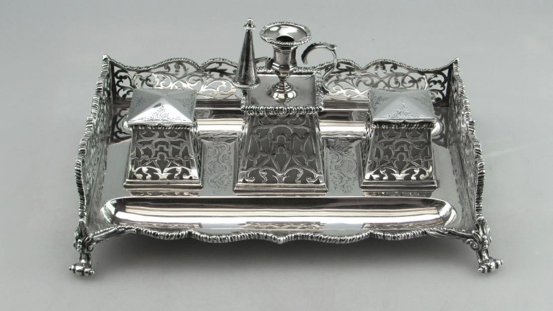 Charles & George Fox Sterling Silver Inkstand, 1833