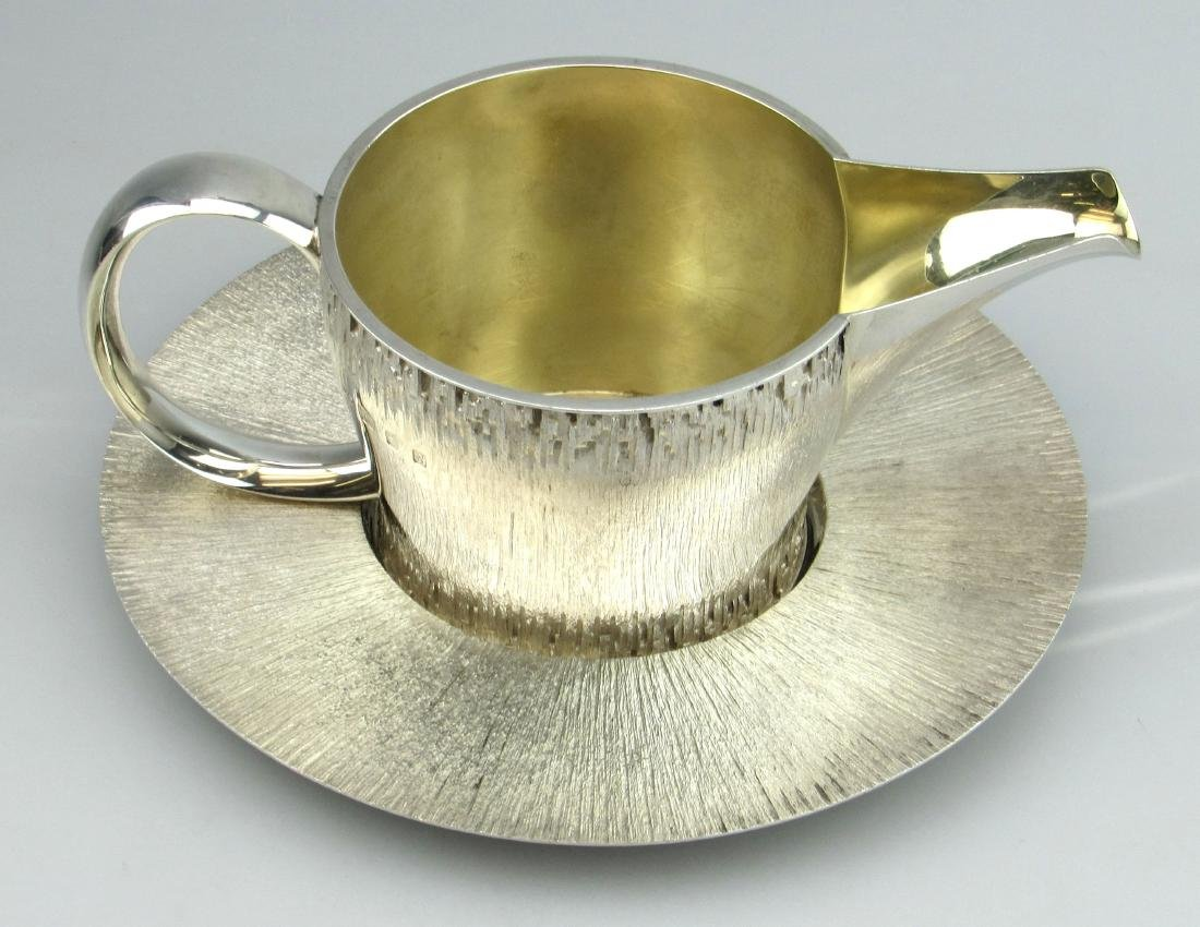 Christopher Lawrence Silver Sauce Boat on Stand
