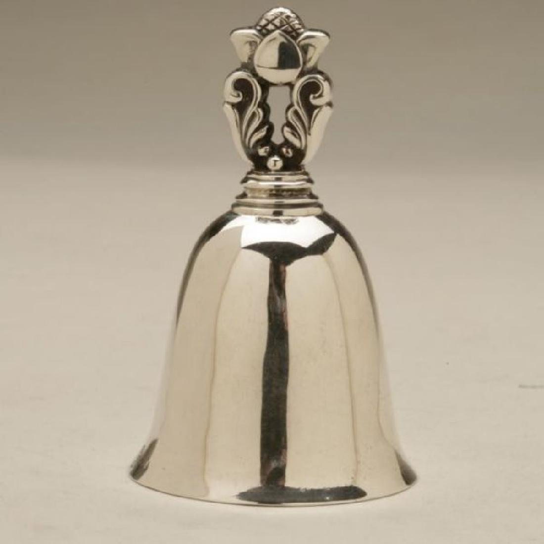 Georg Jensen Sterling Silver Acorn Table Bell, 1925-32