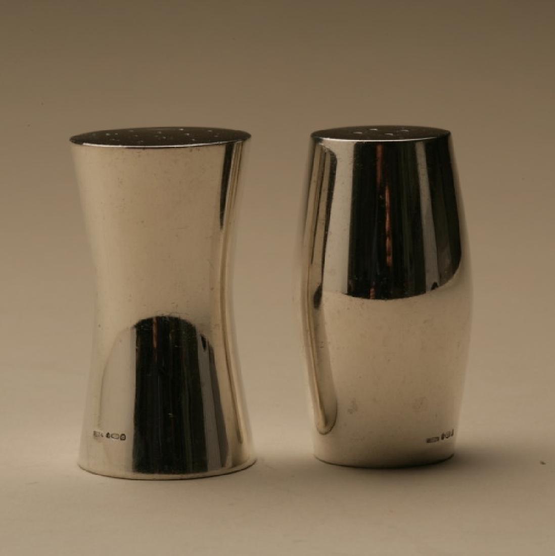 Georg Jensen Sterling Silver Barrel Salt & Pepper, 1969